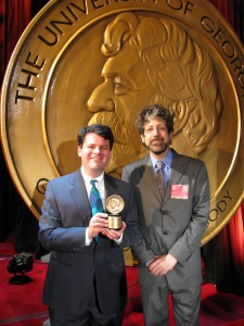 James Donald and John Rubin with Peabody Award