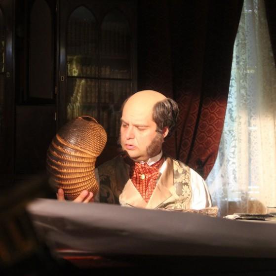 Patrick Hughes as Charles Darwin