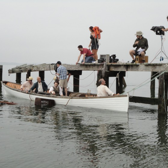 Filming in Hull, Massachusetts