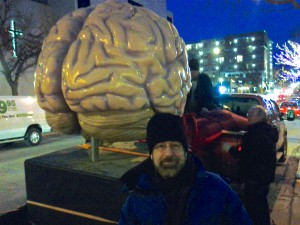 John encounters a random brain-on-wheels at True/False